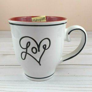 Pfaltzgraff Coffee Mug Cup Love Red White